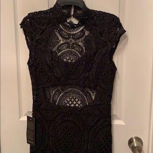 Bebe Crochet Lace Mini